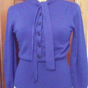 Banana Republic Purple Tie-Neck Sweater